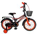 Детский велосипед Crosser Rocky 16 дюймов черно-оранжевый, фото 2
