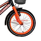 Детский велосипед Crosser Rocky 16 дюймов черно-оранжевый, фото 4