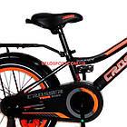 Детский велосипед Crosser Rocky 16 дюймов черно-оранжевый, фото 5