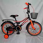 Детский велосипед Crosser Rocky 16 дюймов черно-оранжевый, фото 7