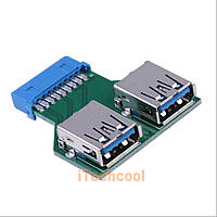 Переходник на материнскую плату Motherboard 19 PIN  2 USB 3.0 Port Adapter USB 3.0