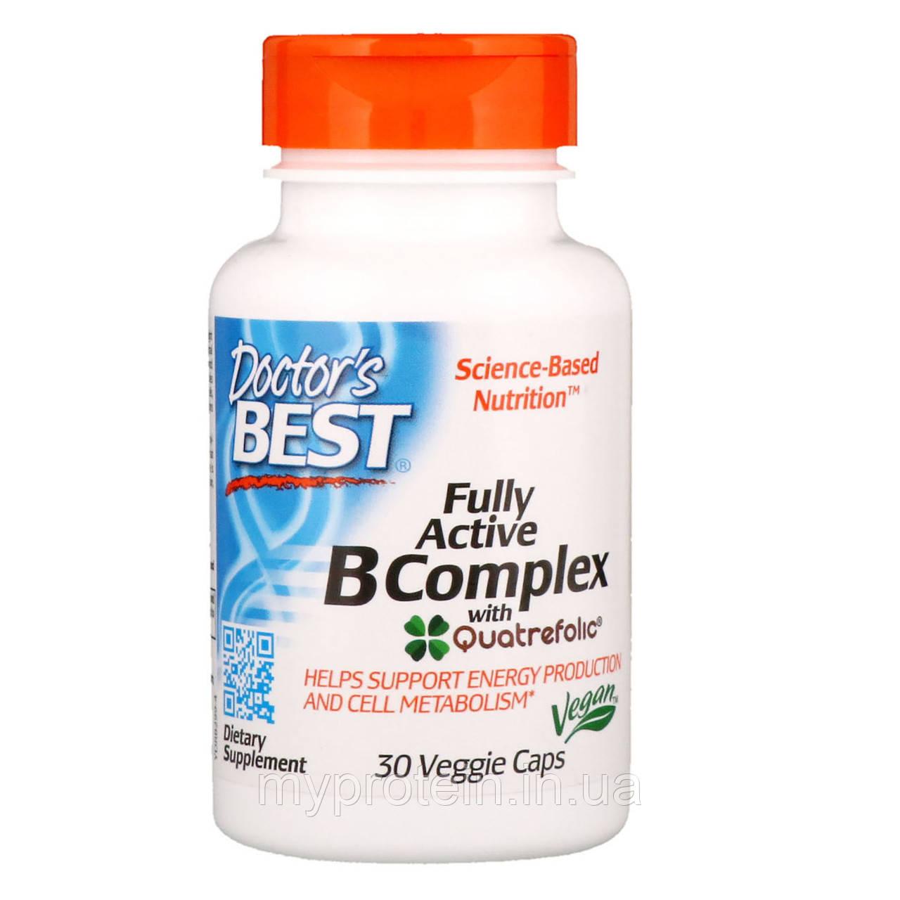 Doctor's BEST комплекс витамин Fully Active B Complex30 veg caps