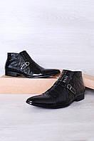 Ботинки мужские черные 6016