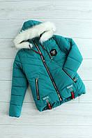 Куртка зимняя детская девочка зеленая