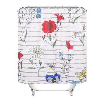 Шторы для ванной Цветы 180 х 180 см Berni