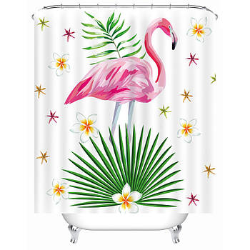 Шторы для ванной Розовый фламинго 180 х 180 см Berni