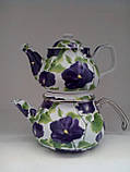 Набор чайный эм. SAVASAN E-CDO Гибискус синий 4841, фото 3