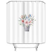 Шторы для ванной Букет цветов 180 х 180 см Berni