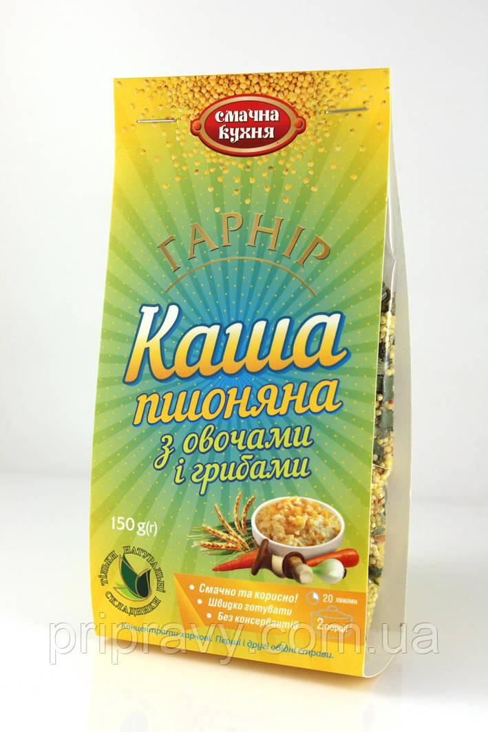 Гарнир Каша пшенная с  овощами и грибами ТМ Смачна кухня, 150 г