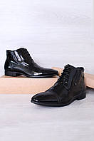 Ботинки мужские черные 6015, фото 1