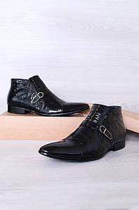 Ботинки мужские черные 106016P