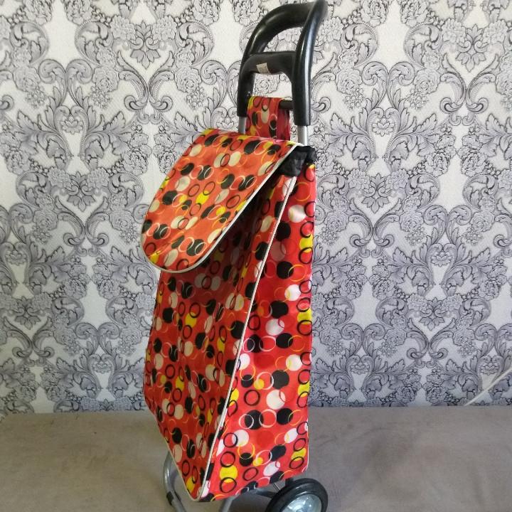 Сумка- тележка для покупок на металлических колесах