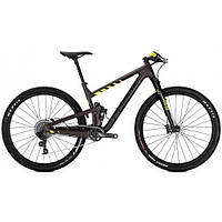"Велосипед двухподвес Focus O1E Factory 12G 29"" 45/M Brown/Fluo Yellowmatt р.M"