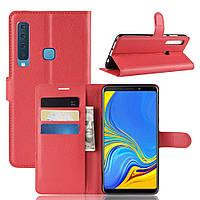 Чехол-книжка Litchie Wallet для Samsung A920 Galaxy A9 2018 Красный