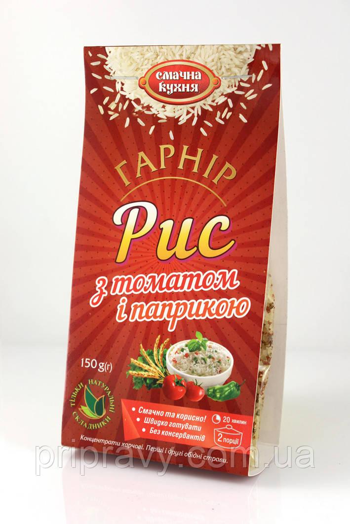 Гарнир Рис с томатом и паприкой ТМ Смачна кухня, 150 г