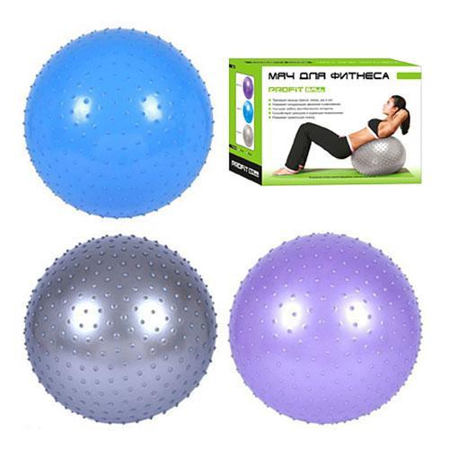 Мяч для фитнеса шипованный М 0280 U/R, 65 см