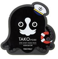 Патч для очищения носа от черных точек Tony Moly Tako Pore One Shot Nose Pack