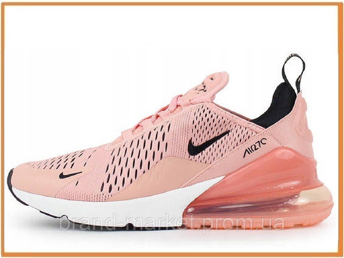 0f2969c4 Женские кроссовки Nike Air Max 270 (найк аир макс 270, розовые / пудра,