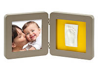 Набор Baby Art Print Frame taupe & azure/sun (фоторамка + отпечаток ножки)