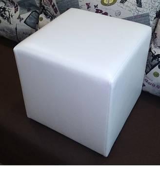 Пуф квадратный Стенли Белый,пуфик,пуфики,пуф кожзам,пуф экокожа,банкетка,банкетки,пуф куб,пуф белый