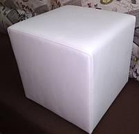 Пуф квадратный Стенли Белый,пуфик,пуфики,пуф кожзам,пуф экокожа,банкетка,банкетки,пуф куб,пуф белый, фото 2