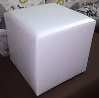 Пуф квадратный Стенли Белый,пуфик,пуфики,пуф кожзам,пуф экокожа,банкетка,банкетки,пуф куб,пуф белый, фото 5