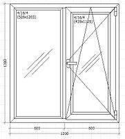 Окно металлопластиковое 1200*1300 мм