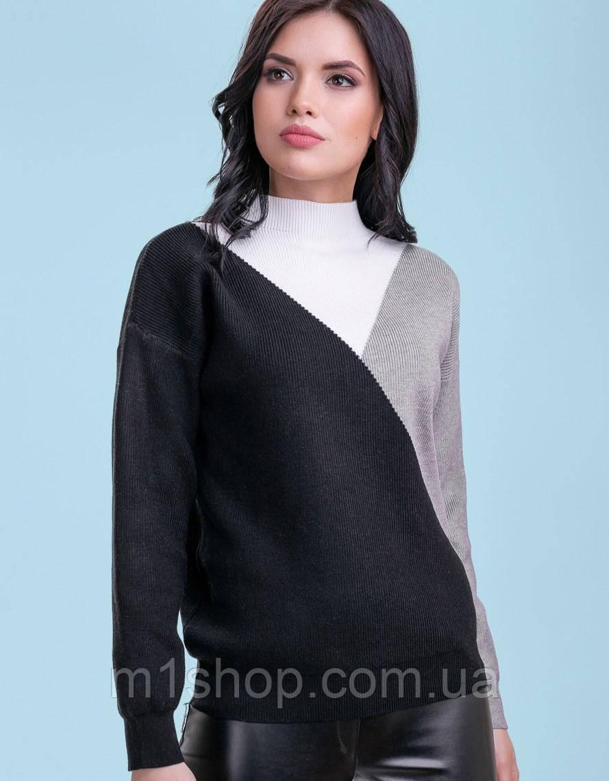 Женский трехцветный свитер (3301-3299 svt)