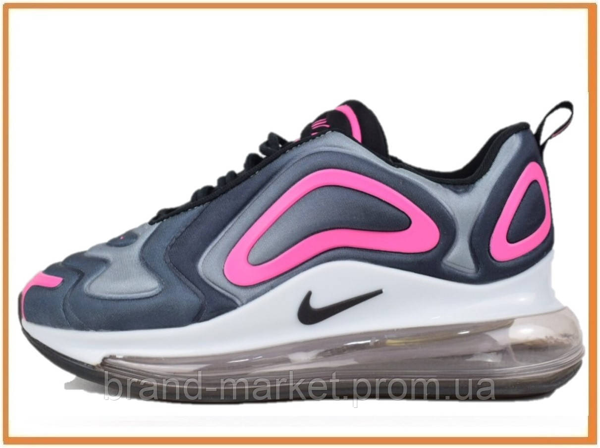 2d2ab764 Женские кроссовки Nike Air Max 720 Grey Pink White (Найк Аир Макс 720, серые