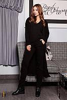 Спортивный костюм модный женский 2019 цвет: Чёрный, размер: S-L