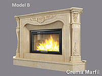 Портал для камина (облицовка) Фантазия из натурального мрамора Crema Marfil, фото 1