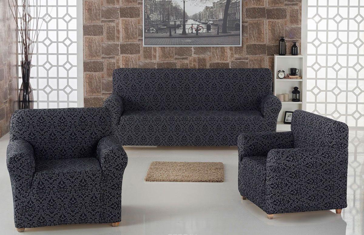 Чехол на диван и 2 кресла Жаккард
