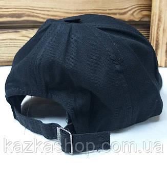 Мужская кепка черного цвета, без ничего, котоновая, с регулятором, фото 2