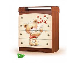 Комод дитячий Ведмедик з букетом