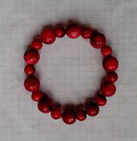 Браслет Коралл красный натуральный 8 и 12 мм
