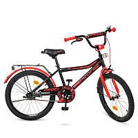 Детский велосипед Profi Top Grade Y20107, 20 дюймов, с подножкой, черно-красный