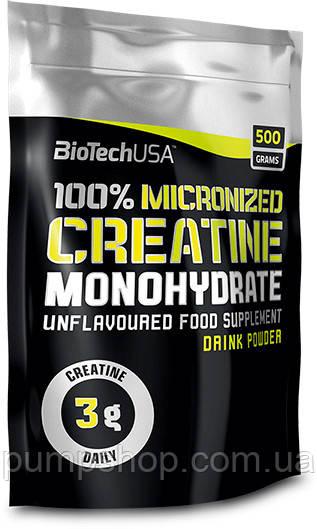 Креатин BioTech 100% Creatine Monohydrate 500 грамм