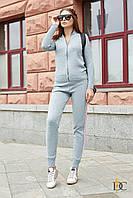 Спортивный костюм модный женский 2019 цвет: Голубой, размер: S-L