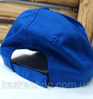 Мужская кепка синего цвета с вышивкой в стиле Nike (реплика), котоновая, с регулятором липучкой, 58 размер, фото 2