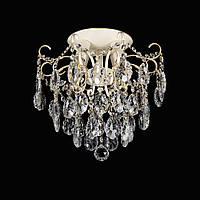 Хрустальная люстра на 4 лампочки VL-88643/4 (слоновая кость)