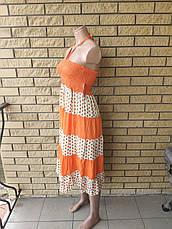 Юбка-сарафан летняя в пол коттоновая BYM, фото 3