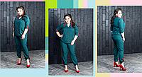 Брючний костюм жіночий з сорочкою, з 48 по 98 розмір, фото 1