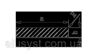 Алюминиевая полоса | Шина, Без покрытия, 12х8 мм
