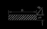 Алюминиевая полоса | Шина, Без покрытия, 40х2 мм, фото 1