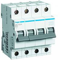 Hager Автоматический выключатель In=40 А, 4п, В, 6 kA, 4м MB440A