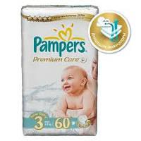 Подгузники Pampers Premium Care midi 3 (4-9 кг) 60 шт. памперс премиум