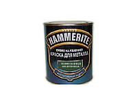 """Эмаль синтетическая HAMMERITE """"МОЛОТКОВАЯ"""" антикоррозионная, темно-зеленая, 0,75л"""