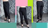 Жіночі брюки з ажурними вставками, з 48 по 98 розмір, фото 1