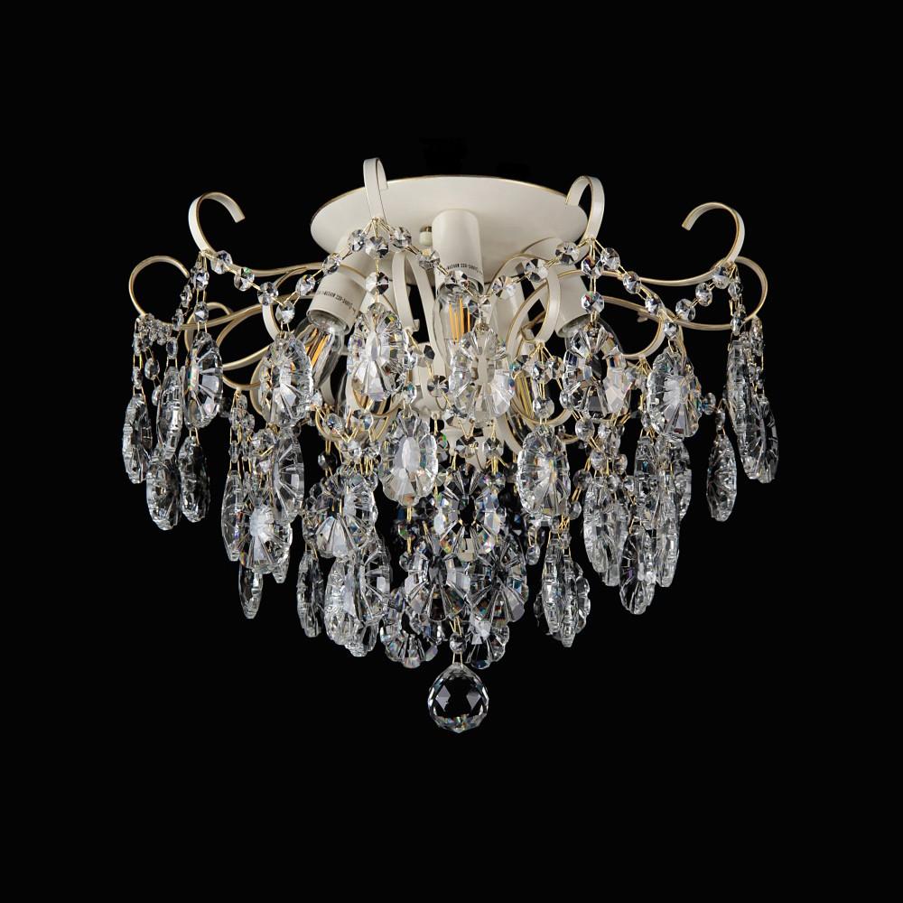 Хрустальная люстра СветМира на 6 лампочек VL-88643/6 (слоновая кость)