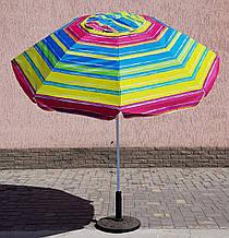 Зонт круглый полосатый, 2.2м, с наклоном, мод-024w